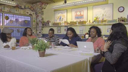 Black community members in San Francisco organizing research questions for PTBiCA