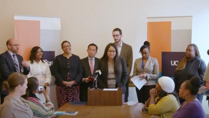 City leaders and UCSF came together to recognize community efforts to turn the curve on the epidemic of prematurity, and the need for more attention on this important health issue.