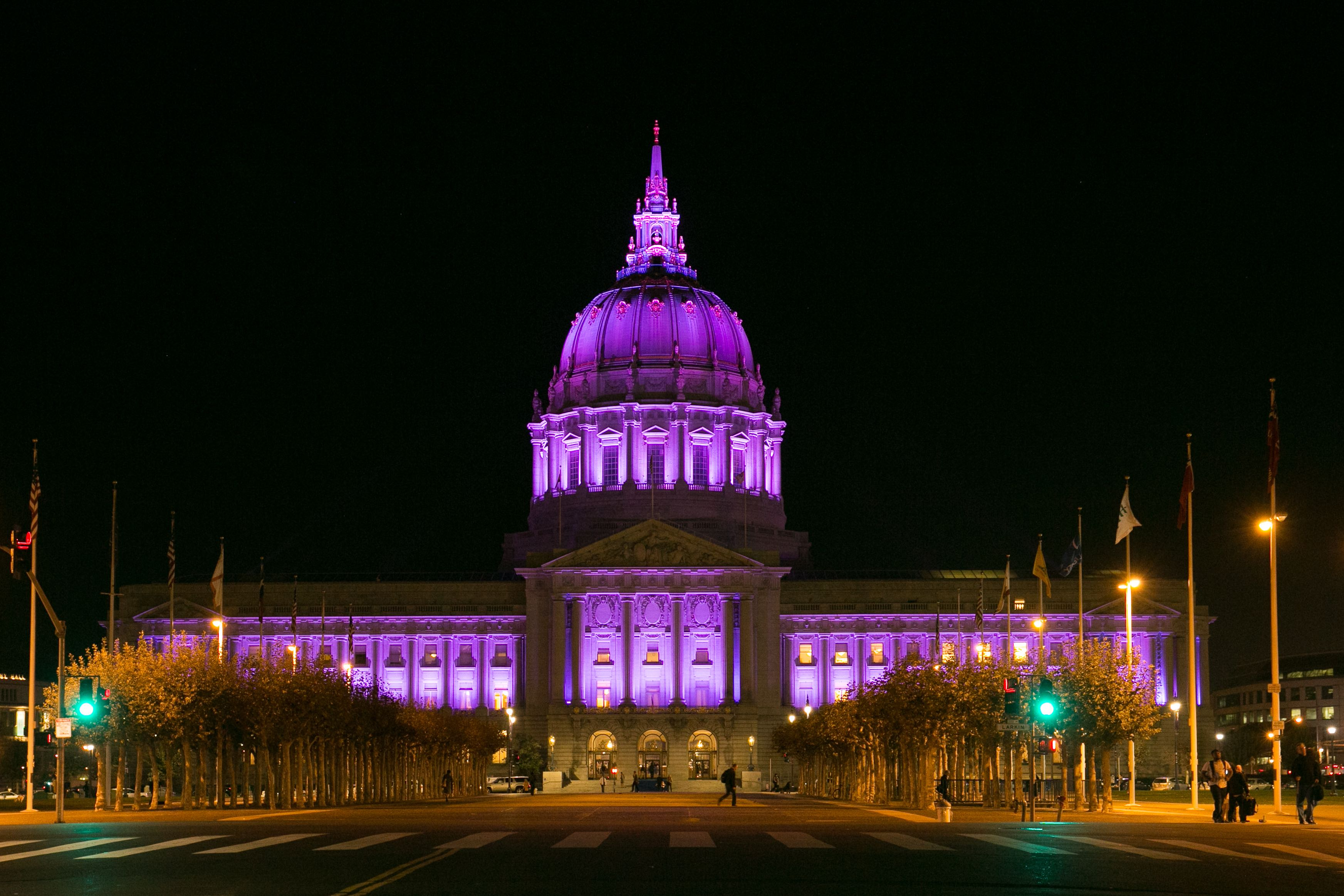 City Hall lit purple for world prematurity day